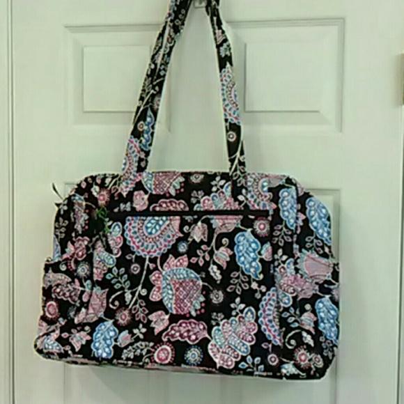 49 off vera bradley handbags large baby diaper bag vera bradley stroll aro. Black Bedroom Furniture Sets. Home Design Ideas