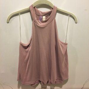 Light purple mauve tank blouse