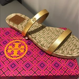 Tory Burch Shoes - TORY BURCH GOLD SANDALS