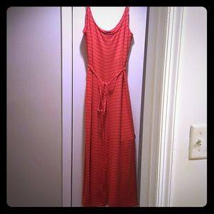 Snap Dresses & Skirts - Pink and orange maxi dress with matching belt