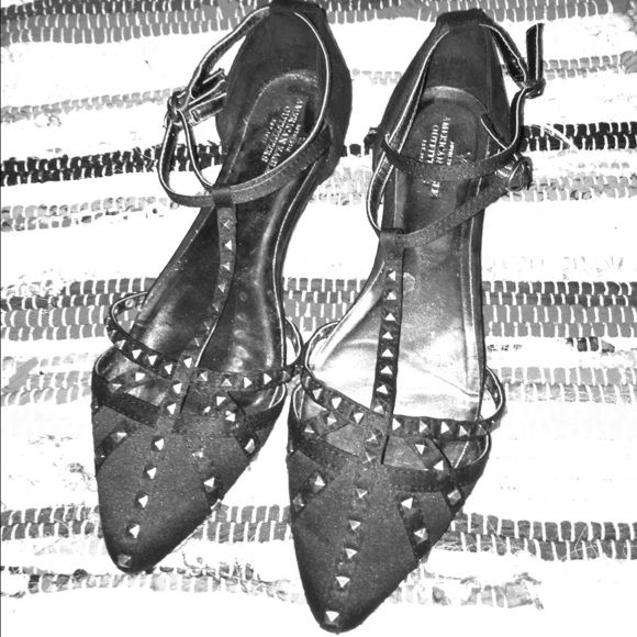 American Eagle Outfitters Shoes - T Strap Studded Flats.