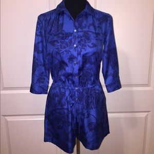 Banana Republic Blue Floral Romper