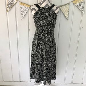 Black and White Twist Front Dress