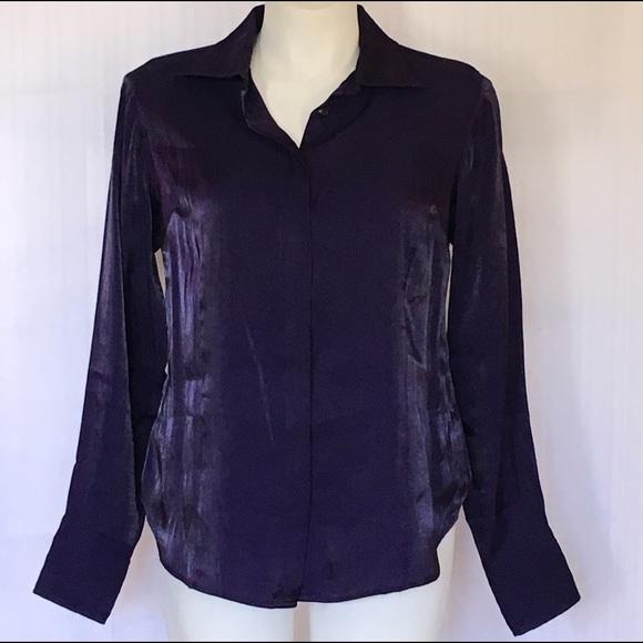 Lane bryant nwot royal purple iridescent dress shirt for Royal purple mens dress shirts