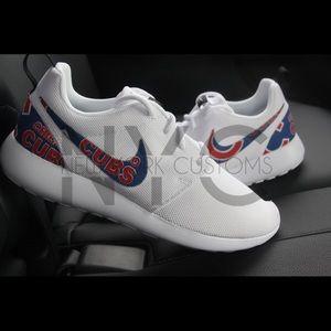 a33f5e388785d ... Nike Shoes - Chicago Cubs Nike Roshe One Women White Custom ...