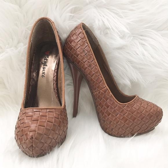 4fd7863916 Shoes styluxe womens brown stiletto heels poshmark jpg 580x580 Styluxe  womens