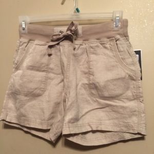 Calvin Klein Linen pull on shorts with drawstrings