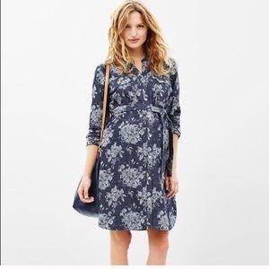 NWT Floral Denim Gap Maternity Dress