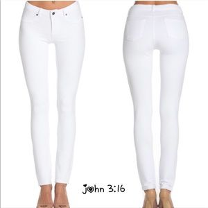Boutique Pants - Chic white skinnies