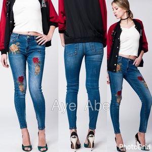 Denim - sexy skinny denim jeans embroidered trendy new