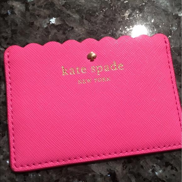 on sale a73ba 57b2e NWOT Kate spade scalloped card holder