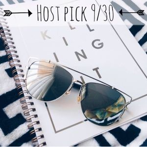 Accessories | Oversized Silver mirror sunnies