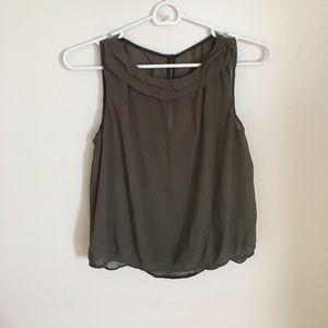 Zara tank top olive green