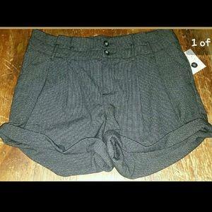 Free People Cuffed Herringbone Shorts Size 12