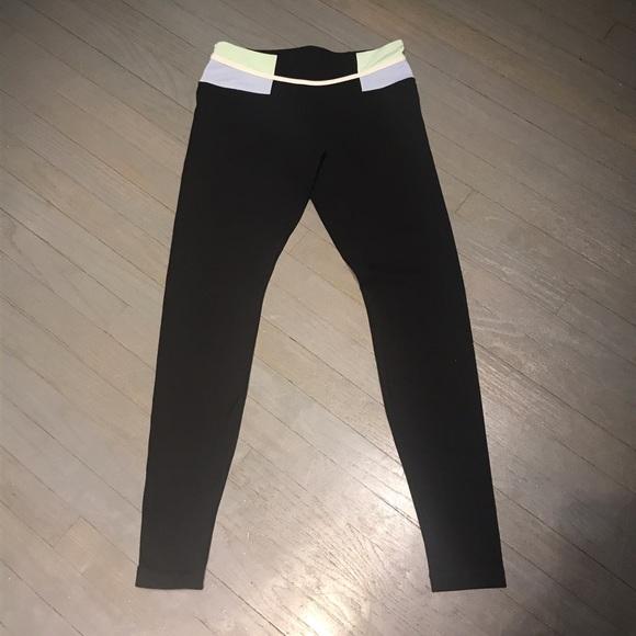 50% off lululemon athletica Pants - Lululemon black blue ...