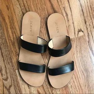 J. Crew Shoes - J Crew black Malta double strap sandals