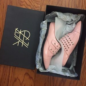 Yes Shoes - Yes Pink Spiked Loafers