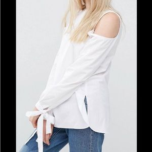  A S O S  T A L L Bow & Cold Shoulder Top