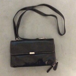aurielle Handbags - Black crossbody wallet