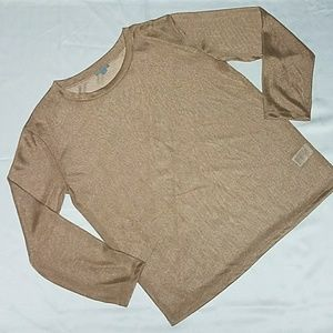 COS  Tops - COS Metallic Shimmer Ribbed Neck Top