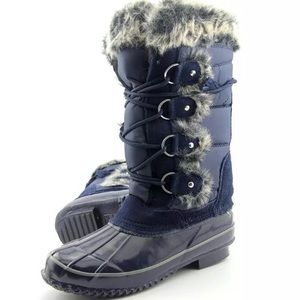 Khombu Shoes - Khombu Bryce Navy boots size 8 women's