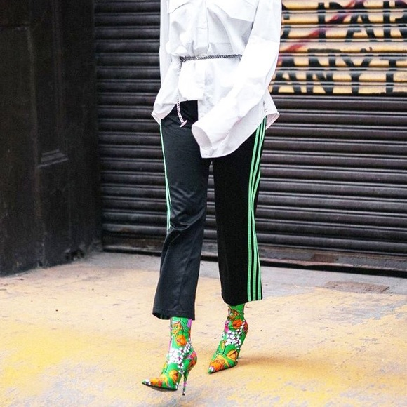 b59d2c4b88df Adidas Pants - Navy Adidas track pants with neon green stripes