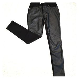 Leather pleather pants. Back is not leather.