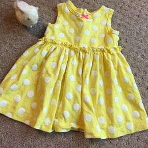Carter's Other - Yellow sleeveless dress with white polka dots
