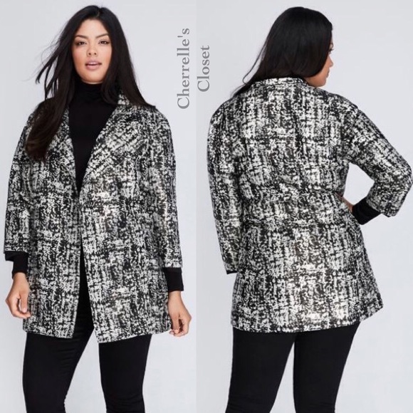 645932ffa90 New Lane Bryant Metallic Jacquard Jacket Plus Size