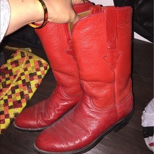 Soo cute red boots