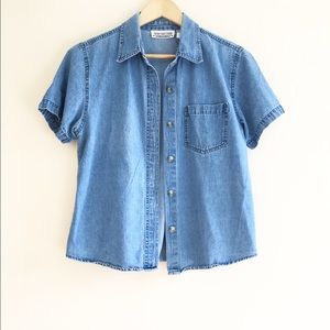 Authentic Original Vintage Style Tops - Vintage 100% cotton denim style shirt. Size M