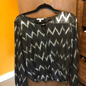 skies are blue Tops - Black and silver blouse