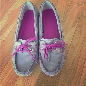Sebago Shoes - Sebago Bala grey loafers 7.5 boat shoes RARE!