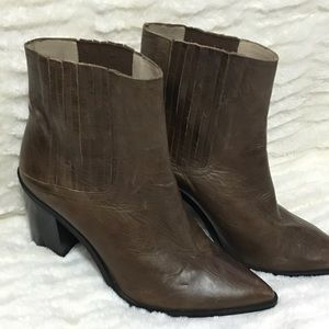 Zara leather booties Sz 9