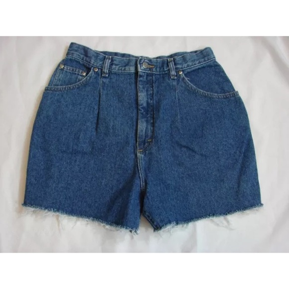 Here High waisted cut off jean shorts