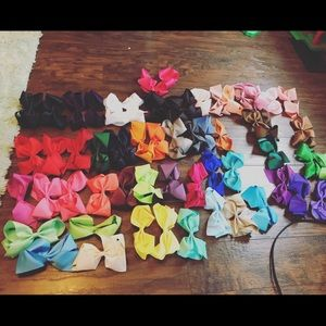 "Other - Set Of 20 6"" Baby Girl Hair Bows Alligator Clip"