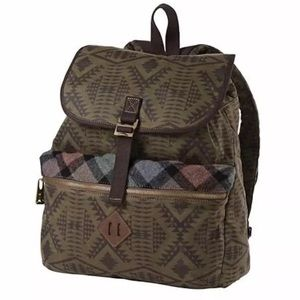 Pendleton Handbags - PENDLETON Book Bag Patterned Backpack Travel Tote