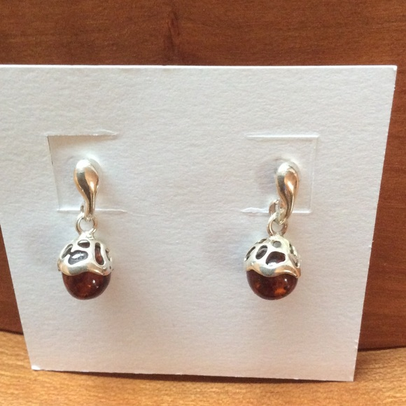 761ab1bd8 Jewelry   Sterling Silver Baltic Amber Acorn Earrings   Poshmark