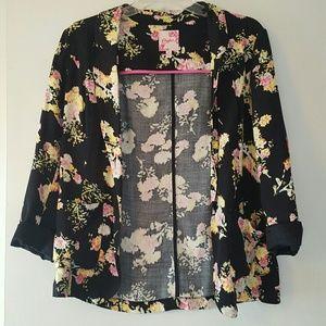 Candie's Jackets & Blazers - Black Floral Blazer