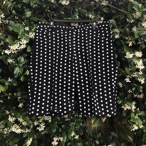 Attyre Pants - Black and white polka dot shorts
