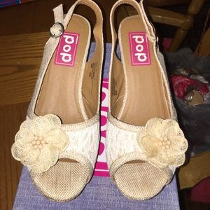 3e08a9c99252a Pop by JCPenney Shoes - ❤️Pretty wedge sandals- worn 1 time!