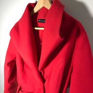 Fashion to Figure Jackets & Blazers - Red Trenchcoat