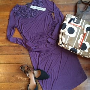 Imanimo Dresses & Skirts - NWT Imanimo eggplant Kim maternity dress