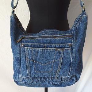 Route 66 Handbags - Blue Jean Crossbody Bag Purse Adjustable Strap Big