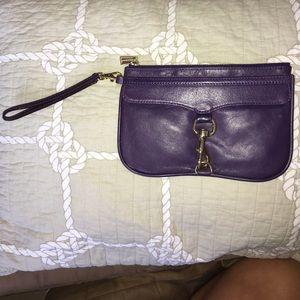 Rebecca minkoff purple gold wristlet MAC