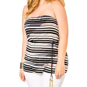 Ashley Stewart Tops - Ashley Stewart Striped Top