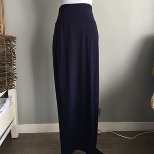 Eileen Fisher Dresses & Skirts - Eileen Fisher Navy fold over waist maxi skirt sz s