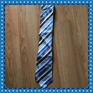 Geoffrey Beene Other - Blue white and gray striped tie