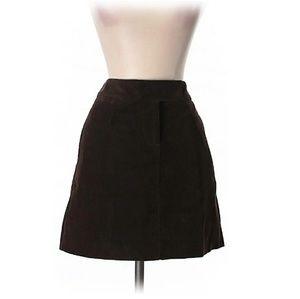 J Crew Chocolate Brown Corduroy Skirt