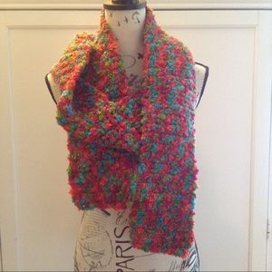 Accessories - Rainbow Multicolored Crochet Scarf